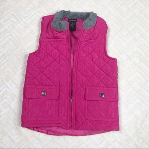 Calvin Klein Jeans Kids Quilted Pink Vest Size 5